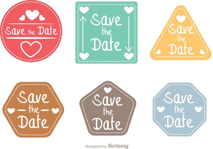 Save The Date Shapes Vector Pack