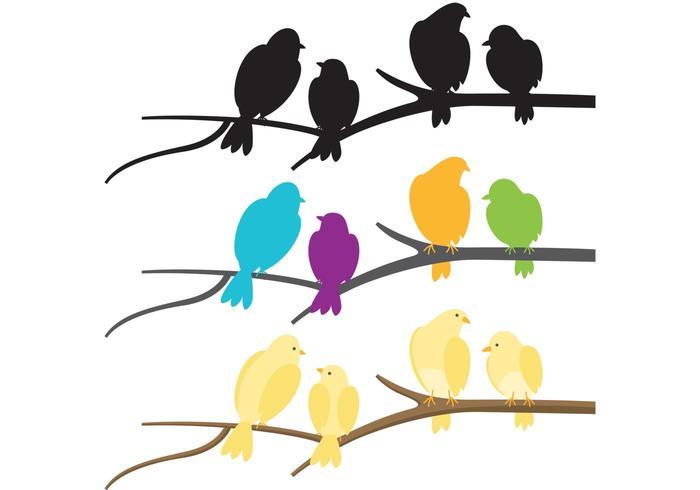 Bunte Menge der Vögel Vektoren
