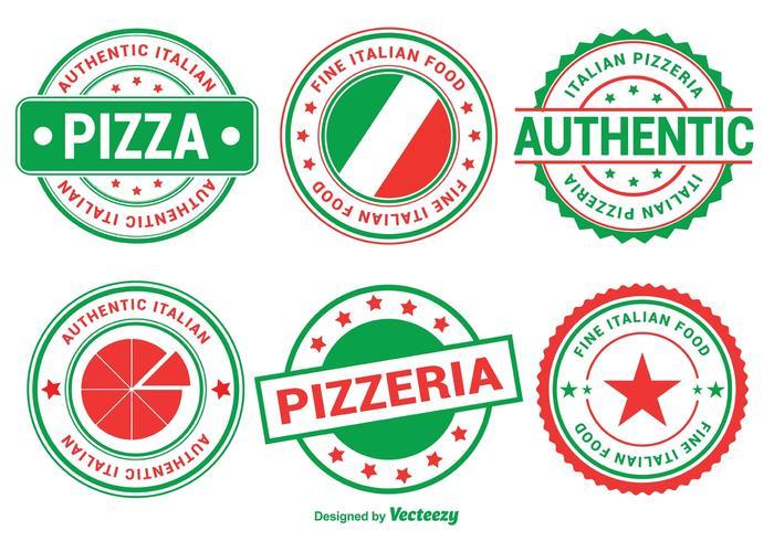 Insignias de pizza italiana