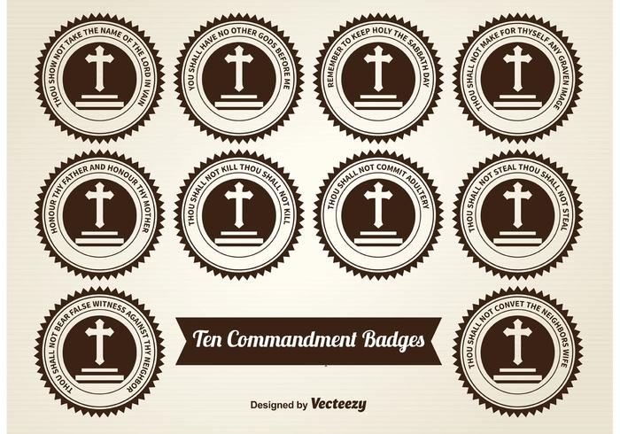 Ten Commandment Badges