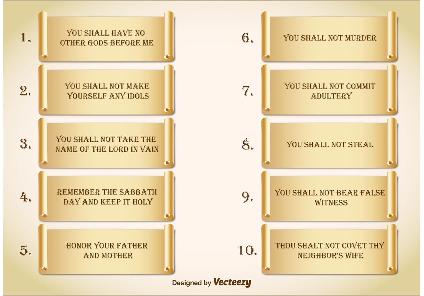 Ten Commandments Download Free Vectors Clipart Graphics