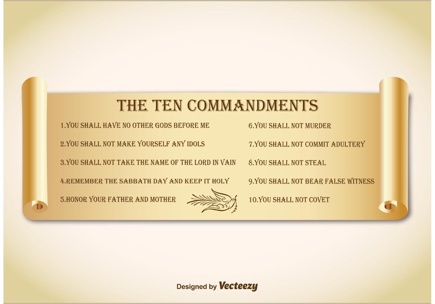 Ten Commandments On Paper Scroll Download Free Vectors Clipart
