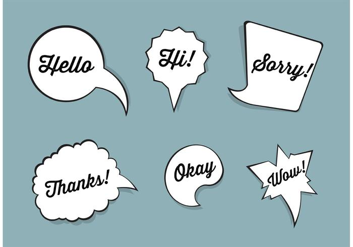 Speech bubble vector set