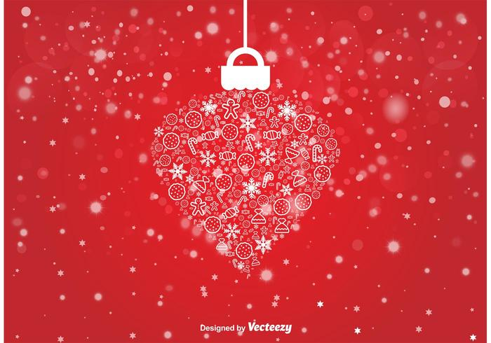 Decorative Bokeh Christmas Ornament Vector