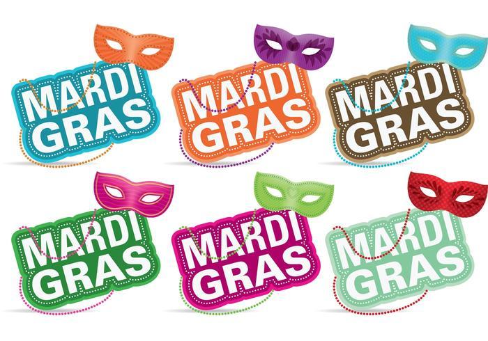 Mardi Gras Masker Vectoren