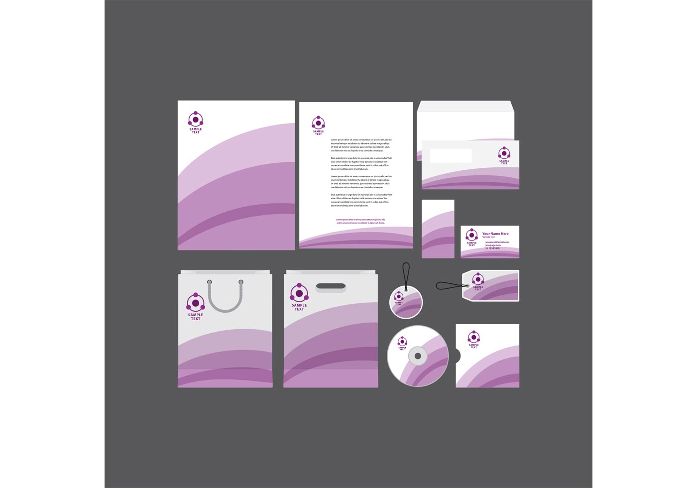 vector-purple-stripe-company-profile-template Office Letterhead Template on professional business, graphic design, monogram personal, cleaning company, for word free, free construction, find free,