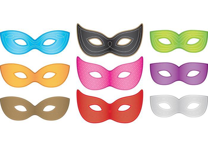 Mardi Gras Masks Vectors