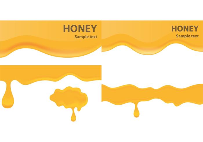 Honey Drip Banner Vectors