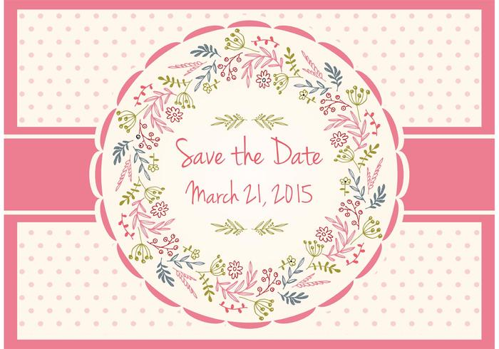 Save The Date Floral Card