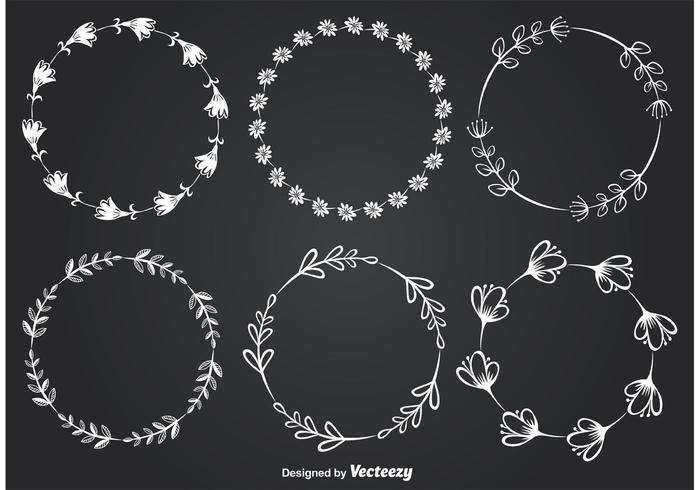 Tafel-Art-Blumenrahmen vektor