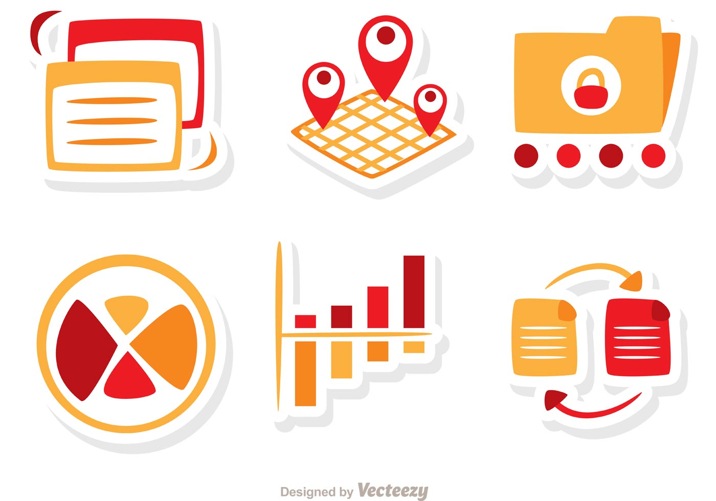 Big Data Icons Vector Pack