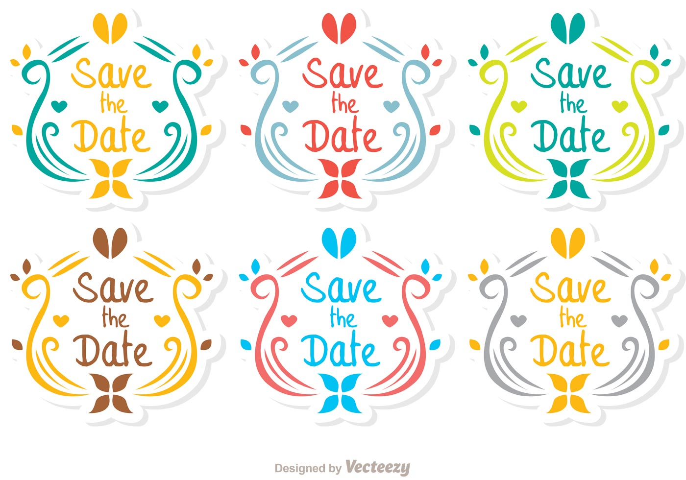 Ornamental save the date vector pack download free vector art stock graphics images for Save the date vector