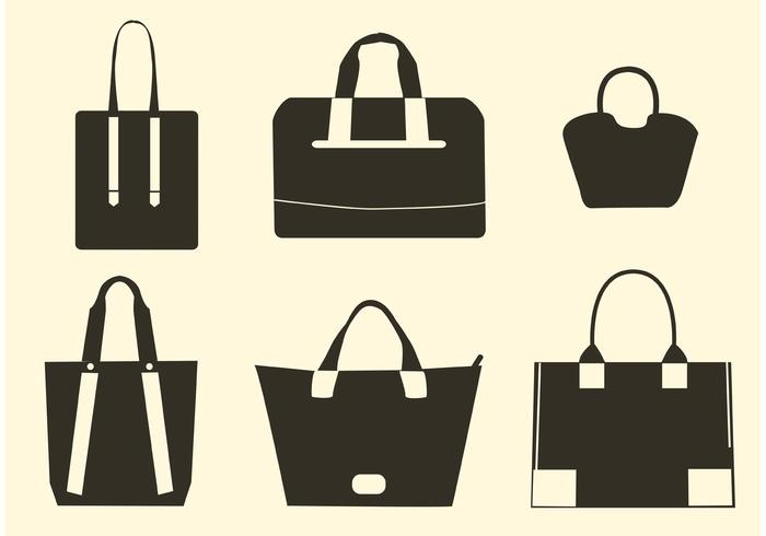 Vector Hand Bag Silhouettes