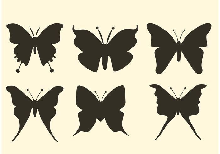 Free Butterfly Vector Silhouettes