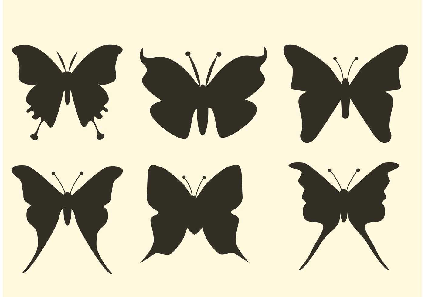 Wings Of Summer Original >> Free Butterfly Vector Silhouettes - Download Free Vector ...