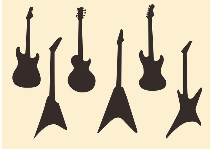 Gitarr Vector Silhouettes