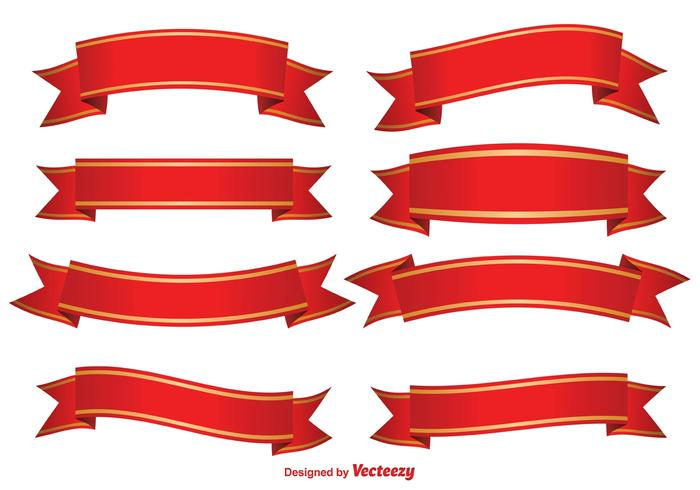 Red Decorative Banners Download Free Vector Art Stock