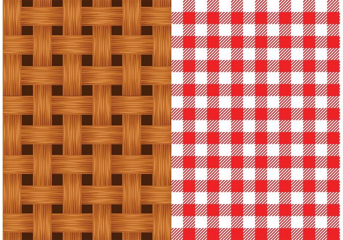 Free Vector Old Wicker Basket Texture