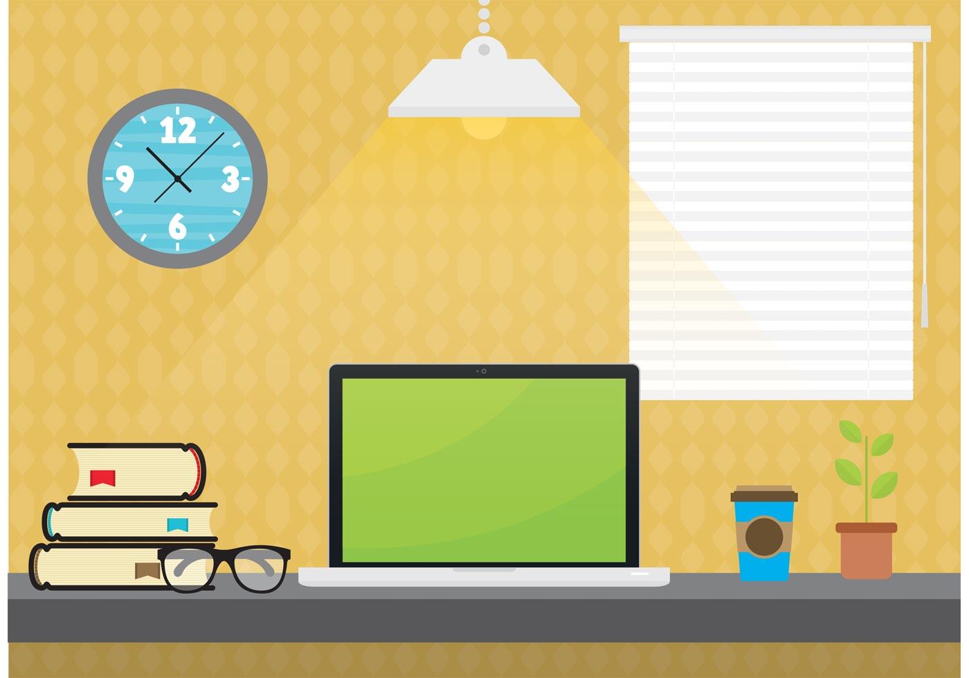 Student desktop vector download free vector art stock for Clipart gratis download