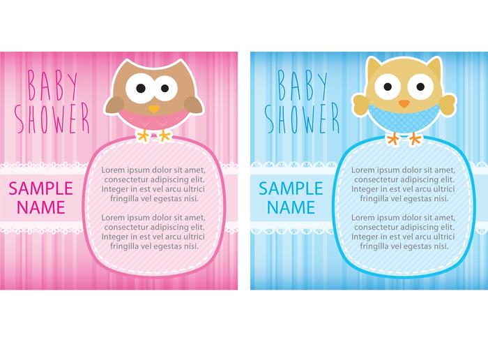 Owl Baby Shower Tarjetas vector