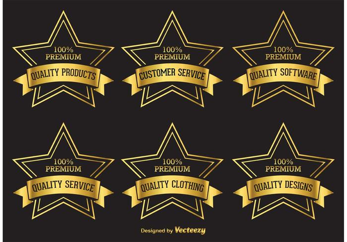 Premium Golden Star Labels