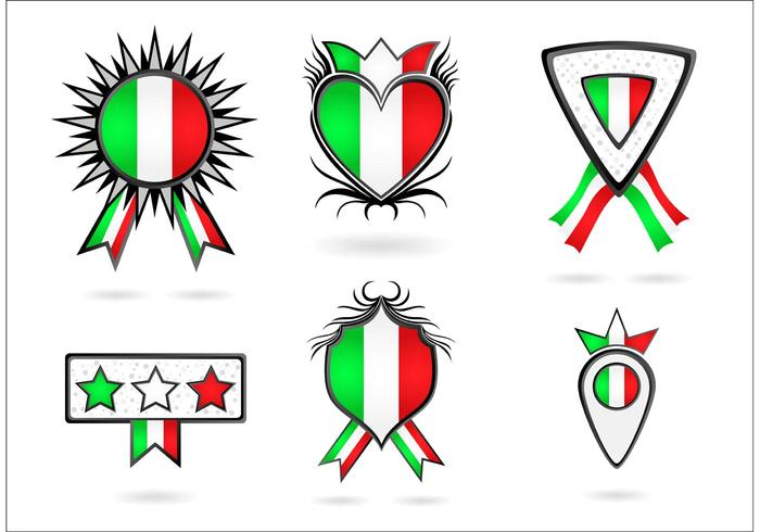 A Collection of Italian Vector Icons