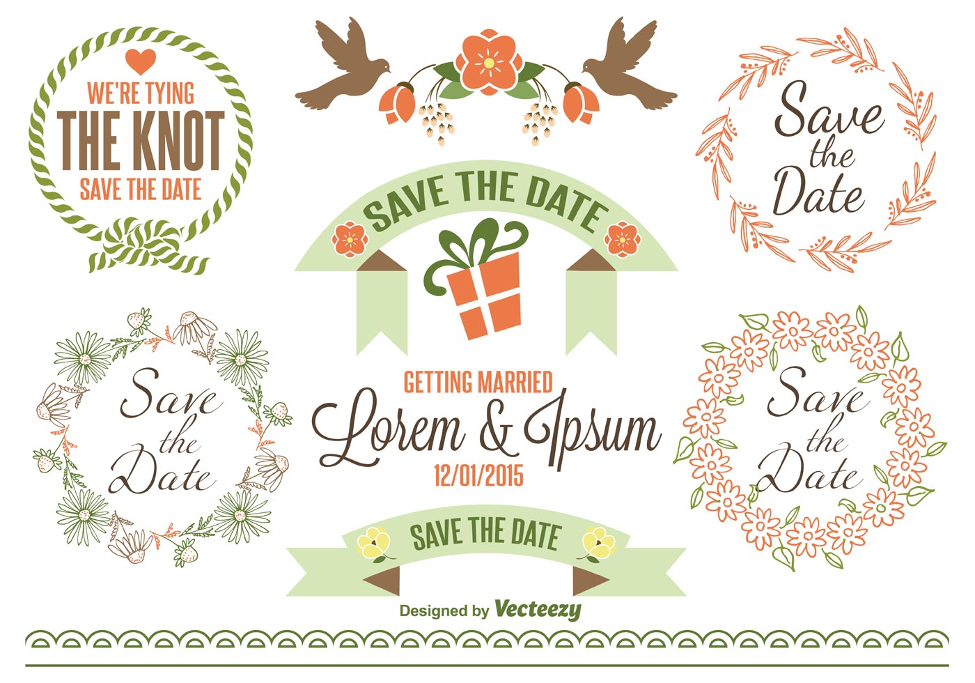 Save the date labels download free vector art stock graphics images for Save the date vector