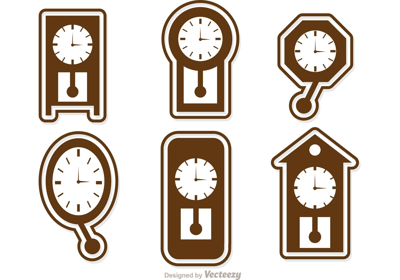 wall clock icons vector pack download free vector art