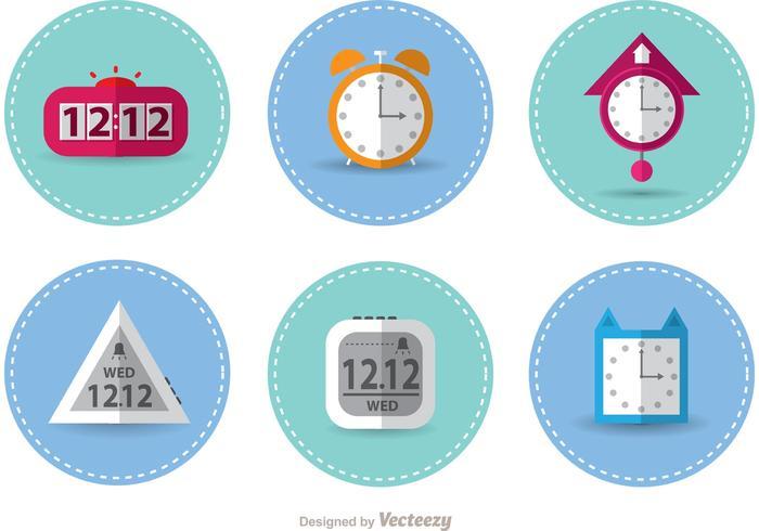 Vectores de reloj cosidos