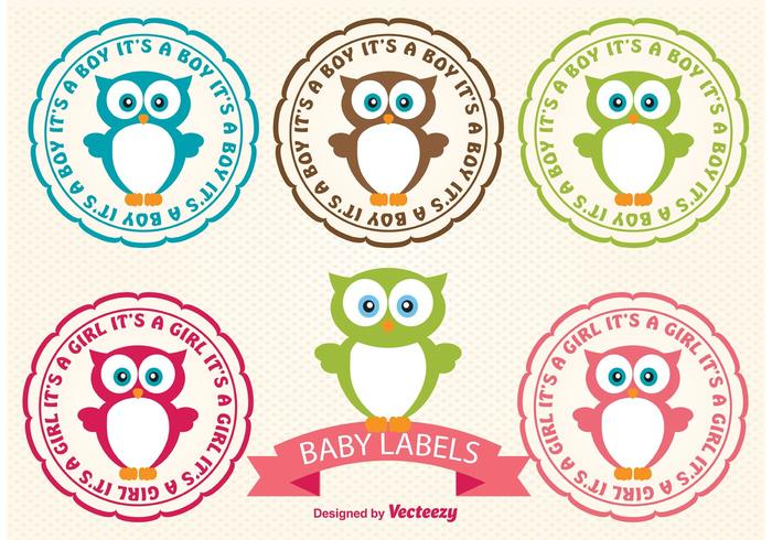 Baby Owl Labels