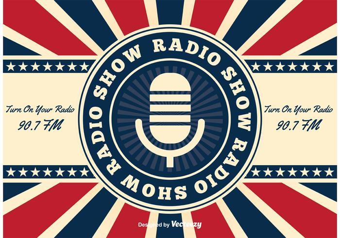 Retro American Radio Show Background