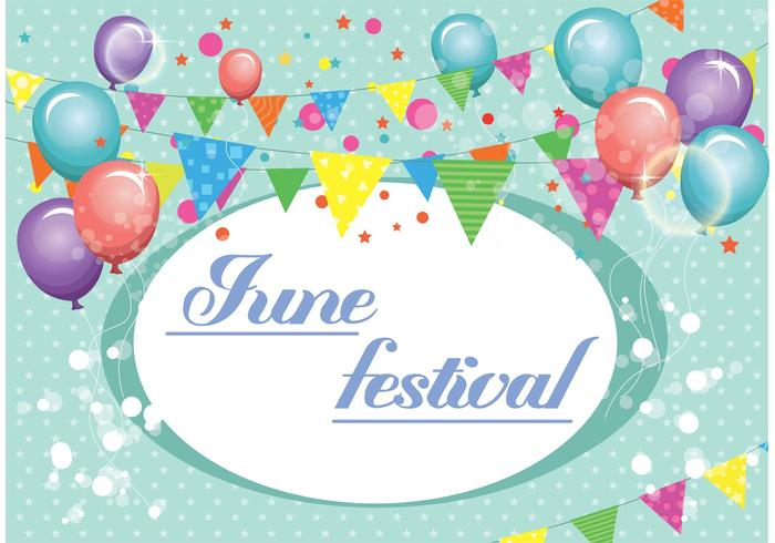 June Festival Vector Background