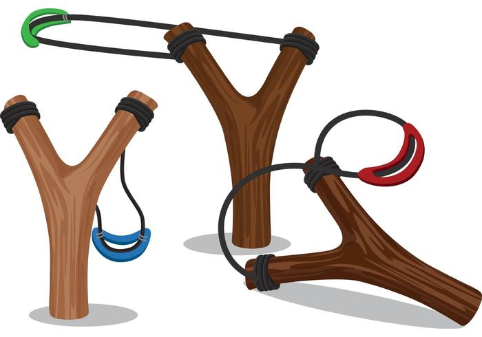 Wooden Slingshot Design Vectors