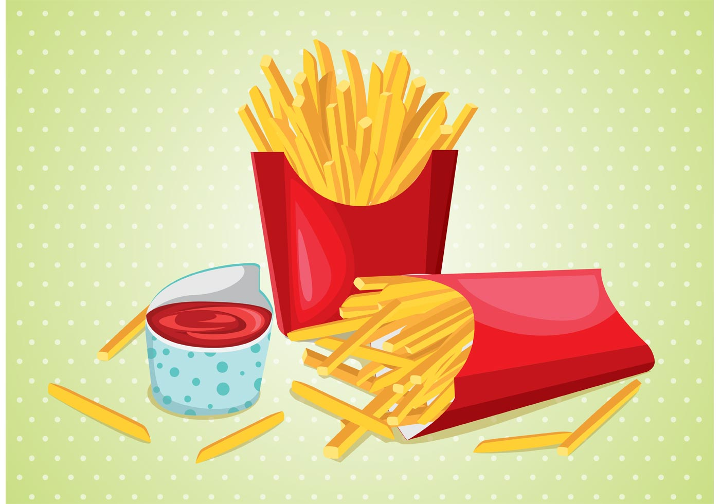 Fries with Sauce Vector - Download Free Vectors, Clipart ...