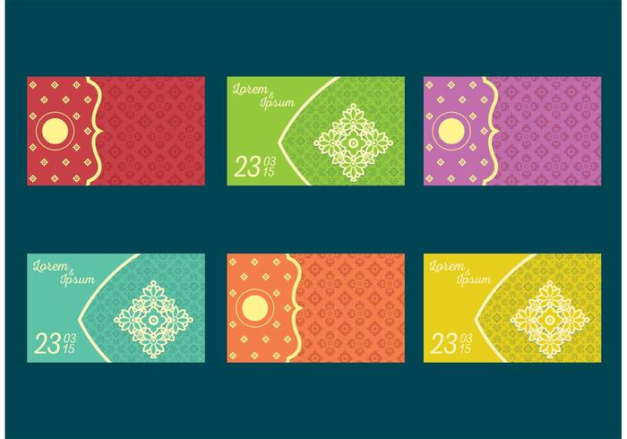 indian wedding card vectors