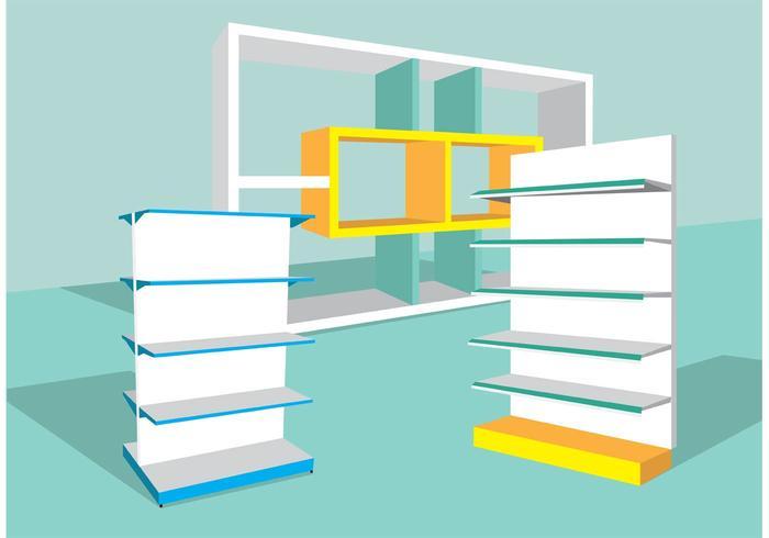 3D Shelves Vector
