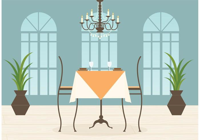 Free Restaurant Interior Vector