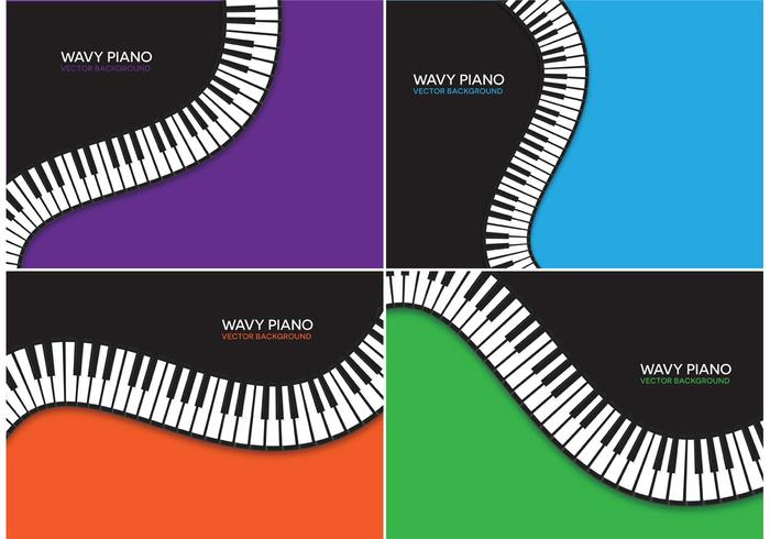 Free Wavy Piano Vector Backgrounds