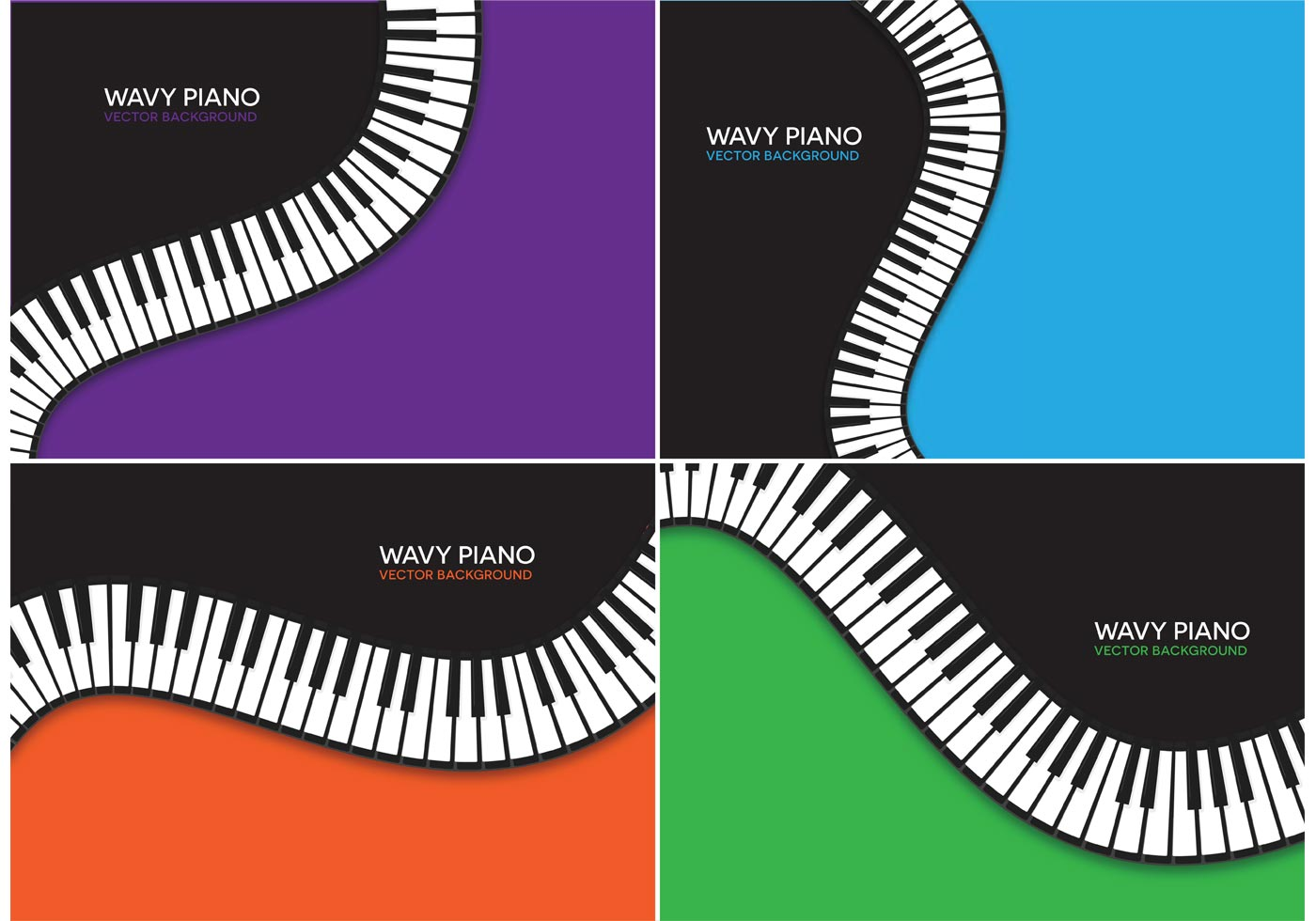 Free Wavy Piano Vector Backgrounds - Download Free Vector ...