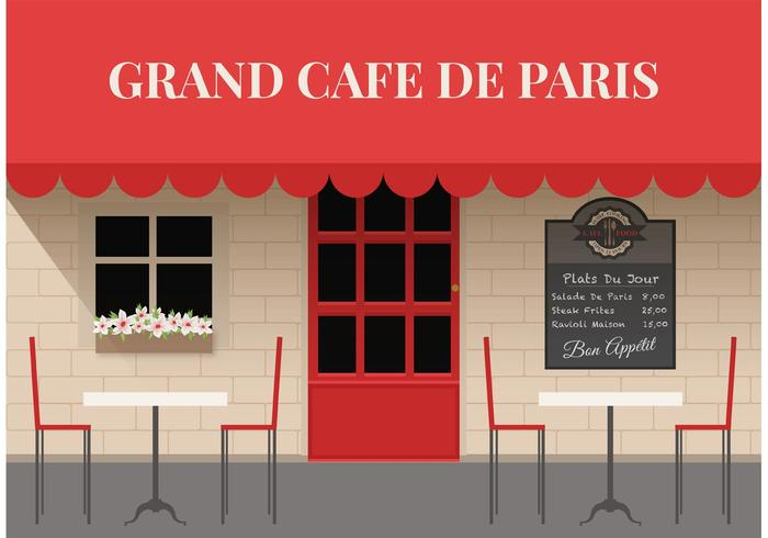 Free Outdoor Cafe Vector