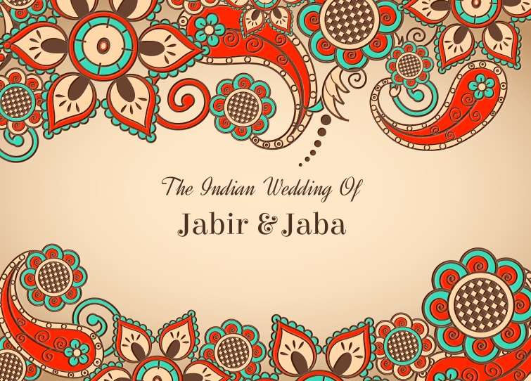 Free Vector Colorful Indian Wedding Card Download Free