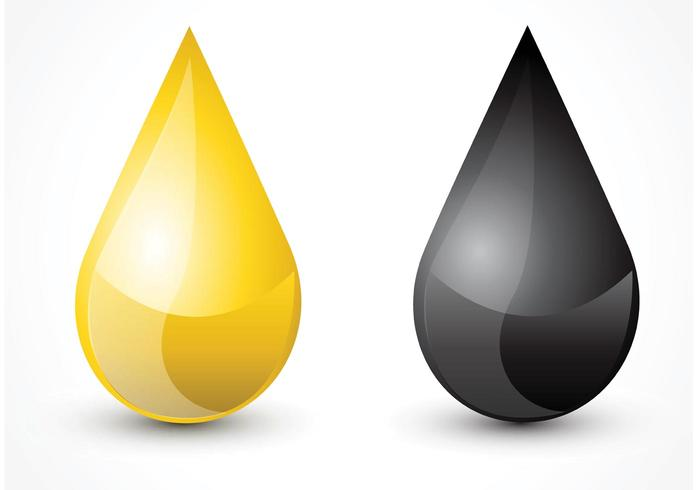 Free Oil Droplet Vector