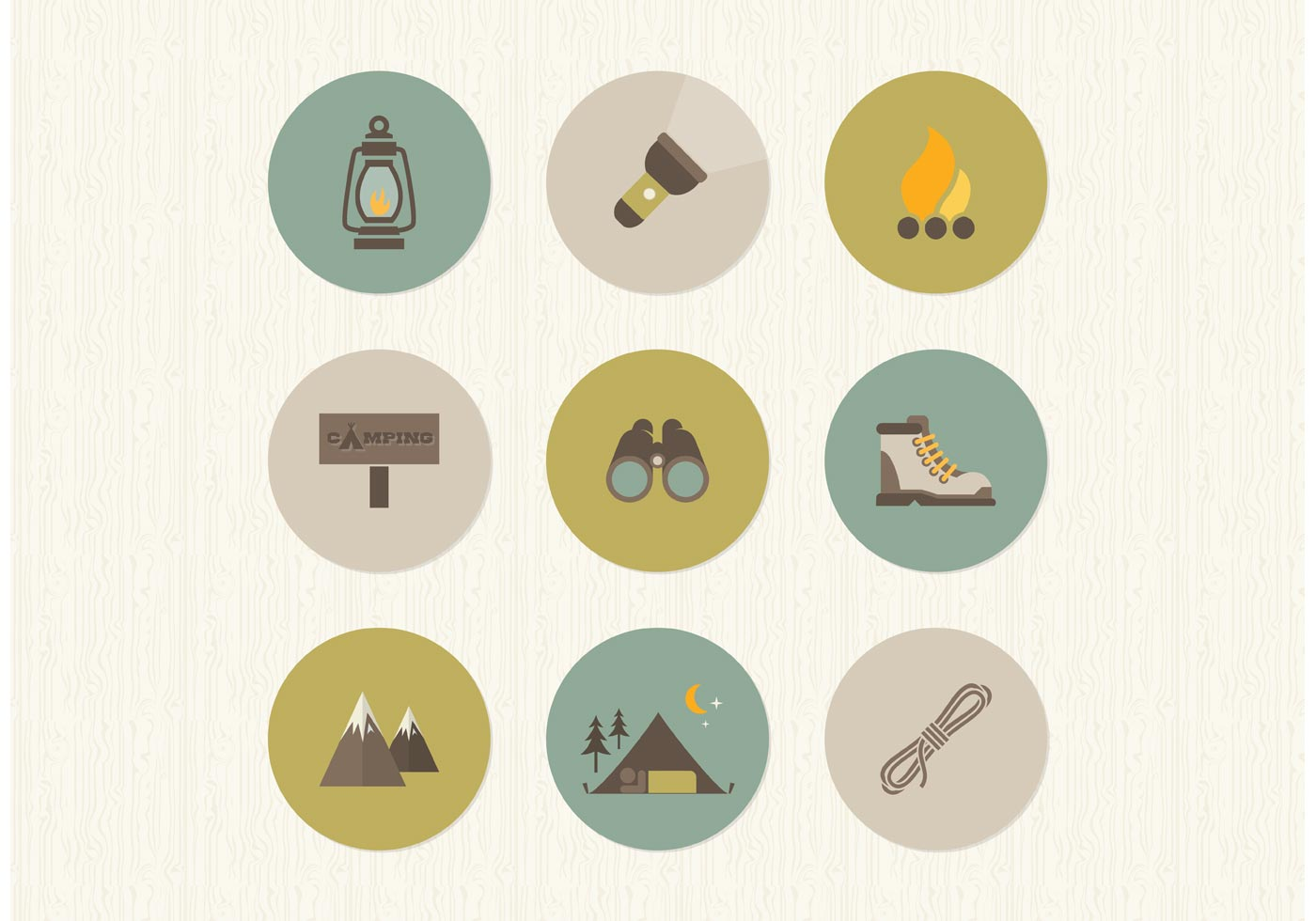 Camping Tent Vector Free Download Free-flat-camping-vector