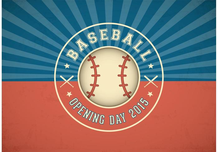 Free Baseball Opening Day Vector Label