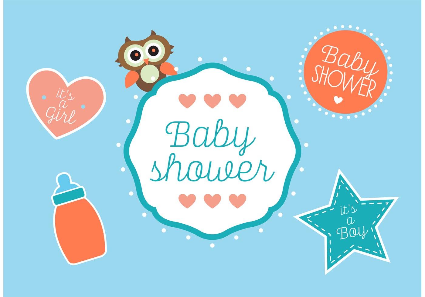 Baby Shower Vectors Download Free Vector Art Stock