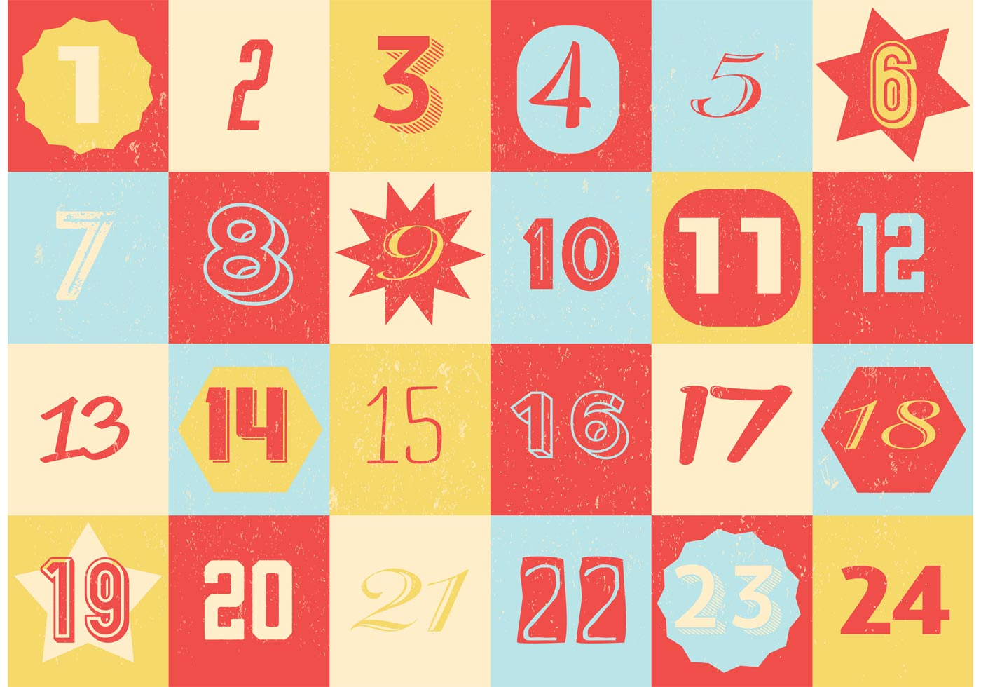 Calendar Vintage Vector : Retro advent calendar download free vector art stock