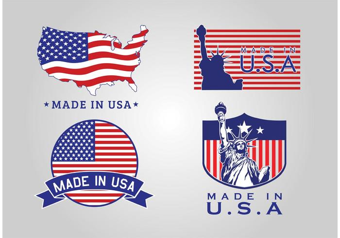 Made In USA Abzeichen Vektoren