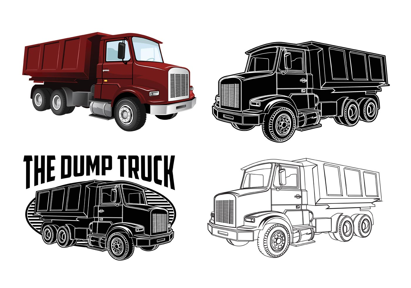 Dump Truck Vectors Download Free Vector Art Stock