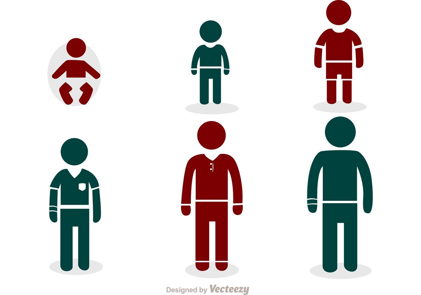 Growing Man Stick Figure Icons Vector Pack - Download Free ...