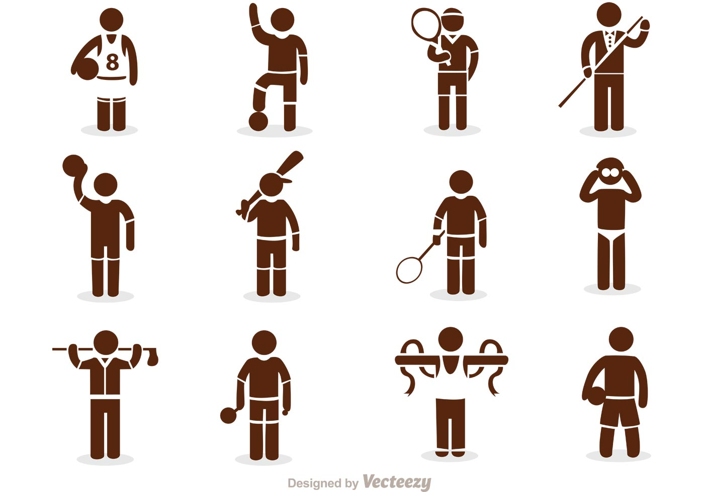 Sports free vector art 7396 free downloads sport stick figure icons vector pack biocorpaavc